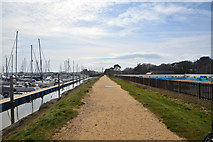 SZ3394 : Lymington : Footpath by Lewis Clarke