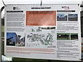 SJ8145 : Information board for pipework installations at Keele University by Jonathan Hutchins