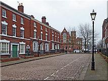 SO9198 : George Street (east end) in Wolverhampton by Roger  Kidd