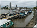 TQ2676 : Boats moored at Oyster Wharf by Eirian Evans