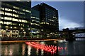 TQ3780 : View of Aether & Hemera's 'Voyage' - a flotilla installation in Heron Quay, London by J W