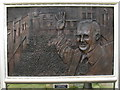 SN4120 : Plaque for Gwynfor Evans by M J Richardson