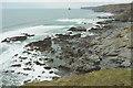 SX0383 : Wave-cut platform by Jacket's Point by Derek Harper