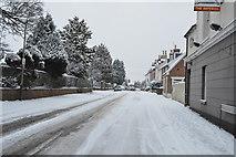 TQ5742 : Snow, Pennington Rd by N Chadwick