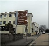 SX9265 : Babbacombe Road  tourist direction signs by John C