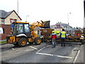 H4672 : Road works, Hospital Road, Omagh - 29 by Kenneth  Allen
