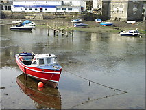 SX2553 : Looe harbour at low tide by Rod Allday