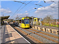 SD7807 : Metrolink Tram at Radcliffe Station by David Dixon