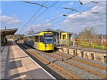 SD7807 : Metrolink Tram at Radcliffe Station by David Dixon