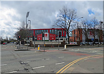 SJ8195 : Nearing Old Trafford Cricket Ground by John Sutton