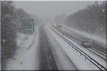 TQ5944 : Snow, A21 by N Chadwick