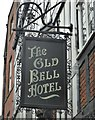 SK3536 : The sign of The Old Bell Hotel by David Lally