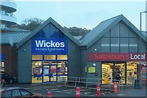 SX8961 : Wickes and Sainsbury's Local by N Chadwick