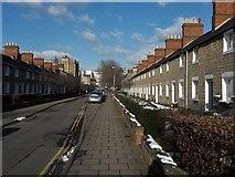 SU1484 : Exeter Street in Swindon Railway village by Chris Brown