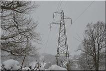 TQ5843 : Pylon by Vauxhall Lane by N Chadwick