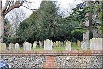 TQ2262 : Churchyard, St Mary's Church by N Chadwick