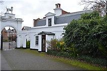 TQ2162 : Entrance Lodge, Bourne Hall by N Chadwick