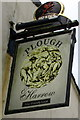 SS5889 : Plough & Harrow name sign,  Murton by Jaggery