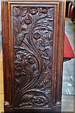 SX3384 : Launceston, St. Mary Magdalene's Church: Fine late Victorian bench ends 6 by Michael Garlick