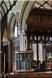 SX3384 : Launceston, St. Mary Magdalene's Church: The early c16th pulpit 5 by Michael Garlick