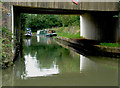 SP5473 : Oxford Canal at Wharf Bridge near Rugby, Warwickshire by Roger  Kidd