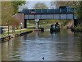 SJ9002 : Narrowboat passing under Blaydon Road Bridge No 66 by Mat Fascione