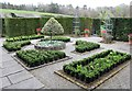 SH5573 : Parterre and box hedging at Plas Cadnant by Richard Hoare