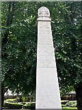 TQ3370 : Top of Upper Norwood War Memorial, Westow Street, Upper Norwood, London by Robin Stott