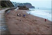 SX9473 : Beach by South Devon Railway Seawall by N Chadwick