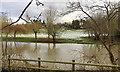 SP2965 : Snow lying on a floodmeadow, Myton, southeast Warwick by Robin Stott