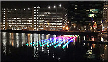 "SJ8097 : View of Aether & Hemera's ""Voyage"" - flotilla installation in Salford Quays by J W"