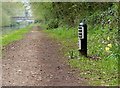 SJ8611 : Milepost near Lapley Wood Bridge No 17 by Mat Fascione