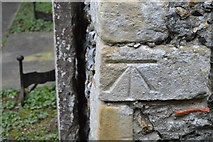 TR2157 : Benchmark, Church of St Vincent by N Chadwick