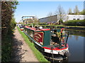 "TQ0584 : ""Calamity j'aime"" narrowboat on Grand Union Canal by David Hawgood"