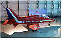 NT5578 : A Red Arrows Hawk at the Museum of Flight at East Fortune by Walter Baxter