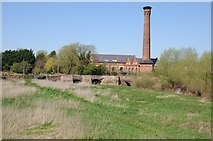 SO8352 : Old Powick Bridge and Mill by Philip Halling