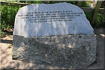 SO8352 : Battle of Worcester memorial stone by Philip Halling