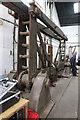 SU4924 : Tywyford Pumping station - pump bell-cranks by Chris Allen