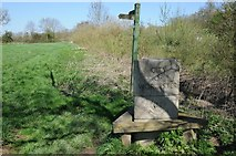 SO8552 : City of Worcester boundary stone by Philip Halling