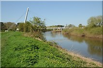 SO8453 : The River Severn and Diglis footbridge by Philip Halling