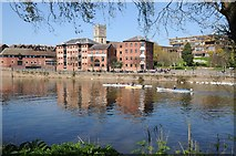 SO8454 : Former riverside warehouses in Worcester by Philip Halling