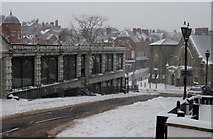 SO0660 : Llandrindod Wells in snow by Andrew Hill