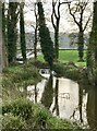 ST8043 : Sluice off Half Mile Pond by Jonathan Hutchins