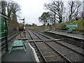 ST6653 : Southern end, Midsomer Norton South station by Christine Johnstone