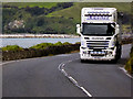 D3016 : Scania HGV on the Coast Road between Glenarm and Carnlough by David Dixon