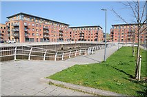 SO8453 : Apartments overlooking the old Oil Basin by Philip Halling