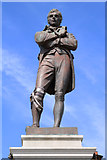 NS3321 : Statue, Burns Statue Square, Ayr by Billy McCrorie