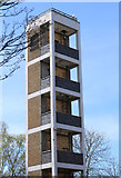 NS3421 : Fire Station Practice Tower, Ayr by Billy McCrorie