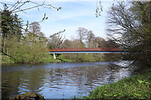 NS3421 : Footbridge over the River Ayr by Billy McCrorie