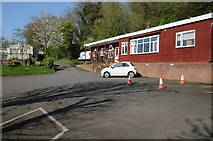 SO8551 : The reception at the Ketch Caravan Park by Philip Halling